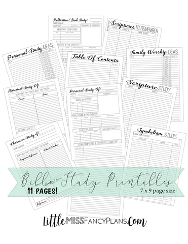 Bible Study|Faith Planning Inserts <Printables> | Classic Size Happy Planner