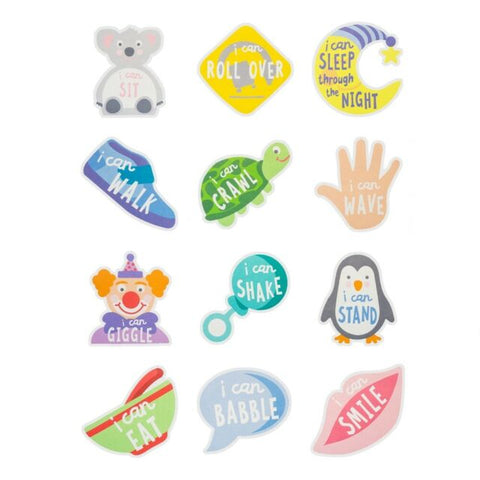 "Milestones Memories - First Year Belly Stickers ""I Can"""