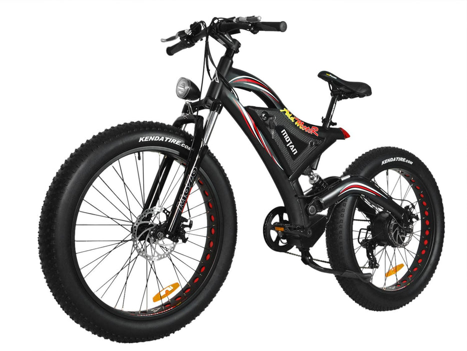 Addmotor Fat Bike Matte Black Addmotor MOTAN M850-P7 Electric Fat Bicycle Electric Bicycle USA