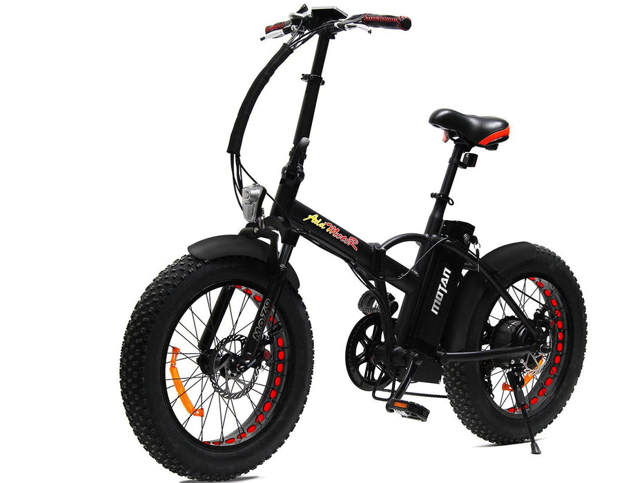 Addmotor Folding Ebike Black Addmotor MOTAN M150 Folding Fat Ebike Electric Bicycle USA