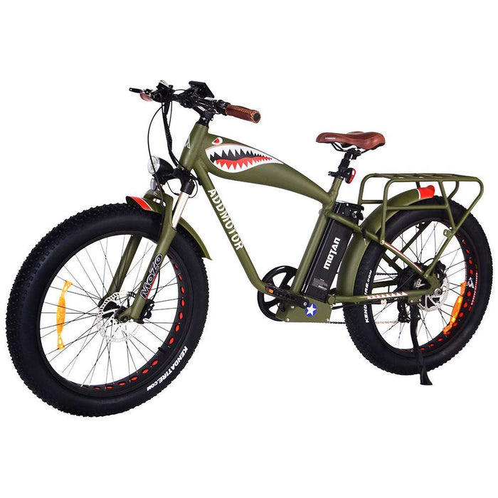 Addmotor Mountain Bike Army Green Addmotor M-5500 Commemorative Flying Tiger Electric Fat Bike Electric Bicycle USA