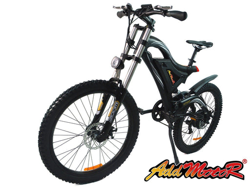 Addmotor Mountain Bike Black Addmotor HITHOT H5 Sport High Fork Electric Mountain Bike Electric Bicycle USA