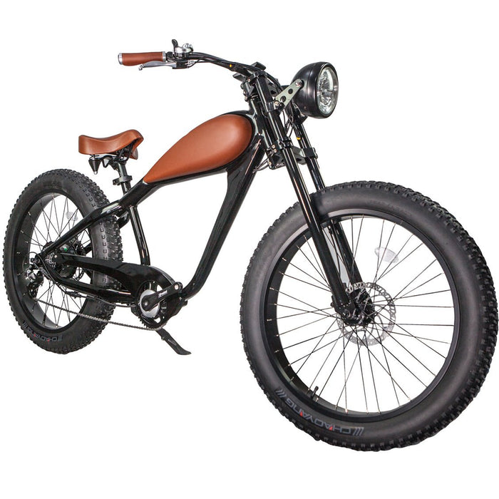 Civi Bikes Cruiser Night Black / None / None Civi Bikes Cheetah Vintage-Style Electric Fat Bike Electric Bicycle USA