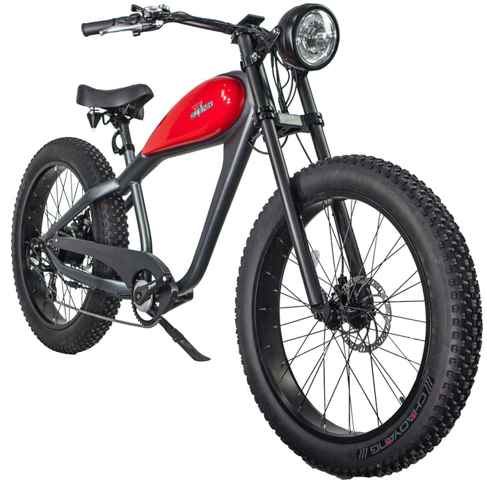 Civi Bikes Cruiser Platinum Gray / None / None Civi Bikes Cheetah Vintage-Style Electric Fat Bike Electric Bicycle USA