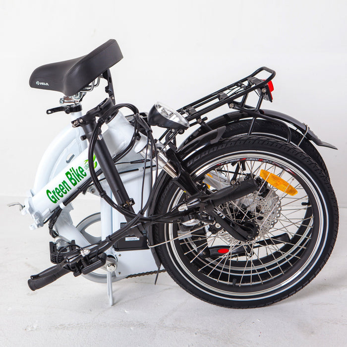 Greenbike USA Folding Ebike Greenbike GB5 Full Suspension Electric Folding Bike Electric Bicycle USA