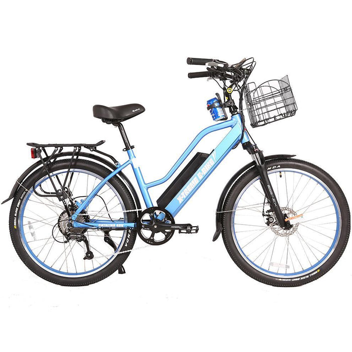 X-Treme Cruiser Baby Blue / None X-Treme Catalina Stepthrough Beach Cruiser Electric Bike Electric Bicycle USA