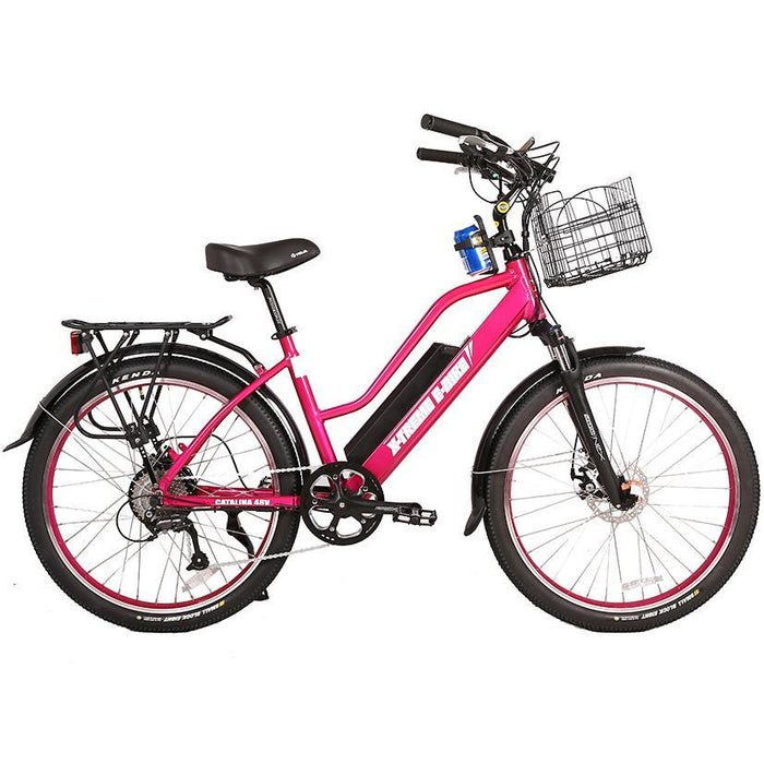 X-Treme Cruiser Pink / None X-Treme Catalina Stepthrough Beach Cruiser Electric Bike Electric Bicycle USA