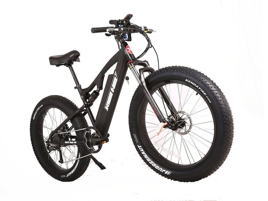 X-Treme Mountain Bike Black / 1-Year Warranty (included) X-Treme Rocky Road Fat Tire Electric Mountain Bike Electric Bicycle USA