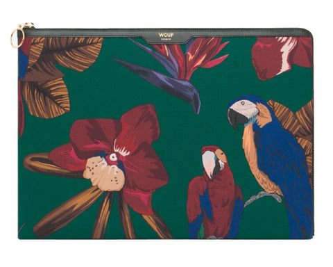 "WOUF - TROPICAL NIGHT 13"" - LAPTOP VELOUR SLEEVE"