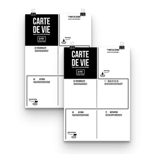 2 Cartes de Vie (affiche visualisation) de DoersWave