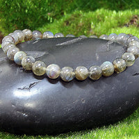 Labradorite Healing Bracelet on Black Rock 2