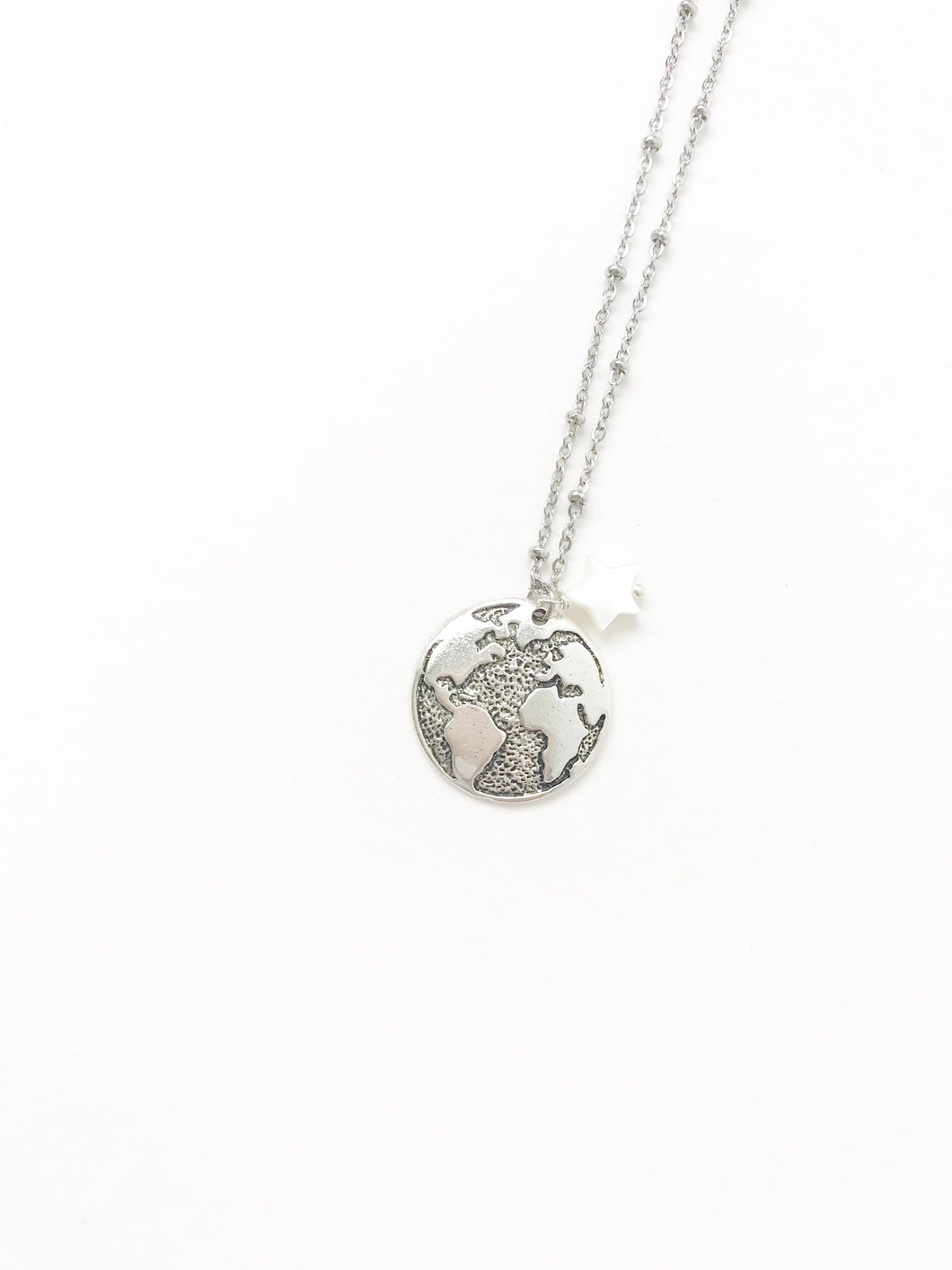 Panama Silver World Necklace