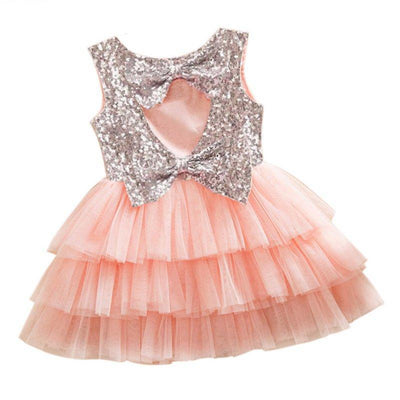Beautiful Cut Out Sequined Tiered Tutu Kids Party Dress Kids Now Apparel