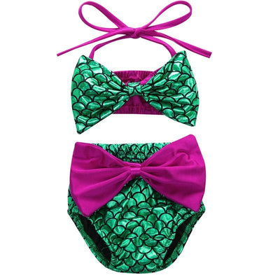 Big Bow Elastic Mermaid Kids Bathing Suits Kids Now Apparel