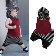 Hooded Vest Tops+Loose Shorts Toddler Boy Summer Clothes Kids Now Apparel
