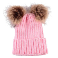Knit Hat With Fur Pom Pom Kids Now Apparel
