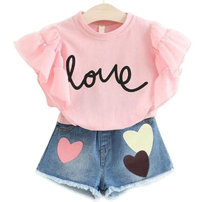 Letter Print T-shirt + Pants Summer Clothes For Girls Clothing Sets Daisy Dress For Less