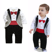 Long Sleeve Tuxedo Cotton Baby Boy Romper Suits Kids Now Apparel