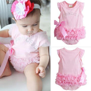 Pink Layered Ruffle Crystals Baby Clothes Onesies Kids Now Apparel