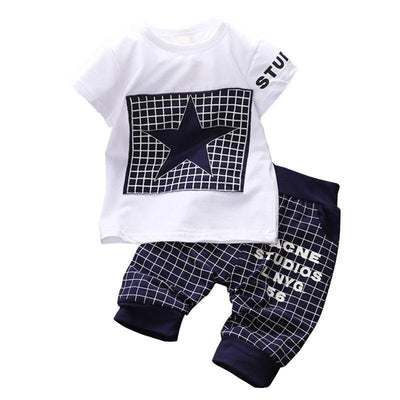 Summer Printed T-Shirt+Pants Suit Baby Clothing Sets Kids Now Apparel