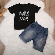 Toddler Boy Shirt + Denim Short Sets Kids Now Apparel