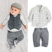 Vest + Shirt + Long Pant Clothing Set Kids Now Apparel