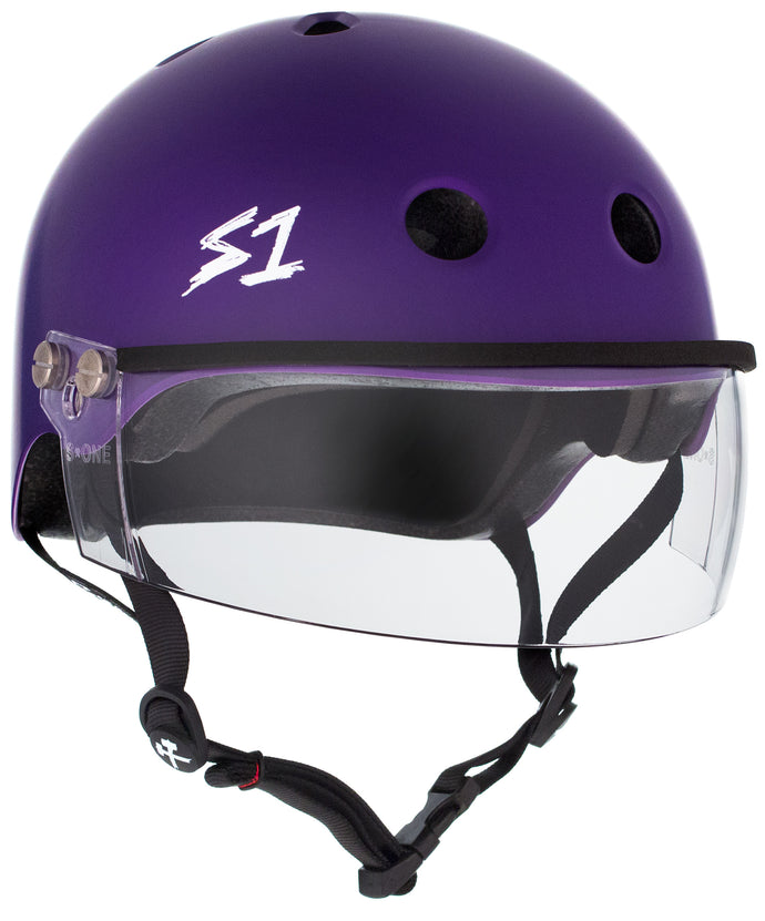 S1 Lifer Visor Helmet - Purple Matte