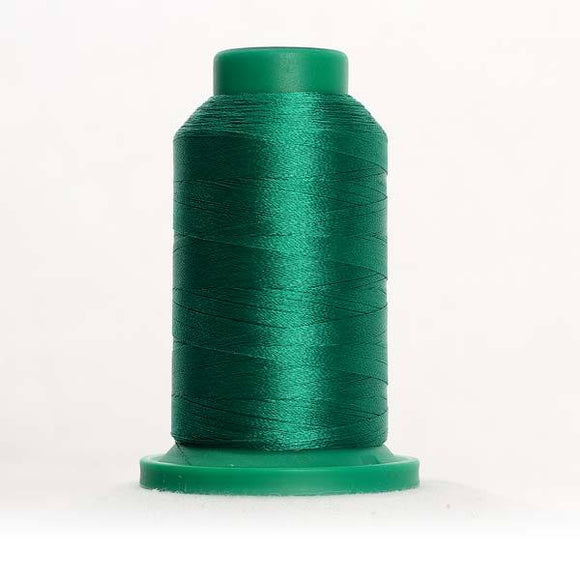 Isacord 1000m/1100yd 40wt solid trilobal polyester thread  number 5400 Scrub Green