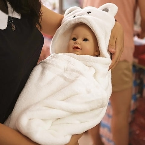 Comfortable  Bathrobe Cute Animal Cartoon Babies Blanket