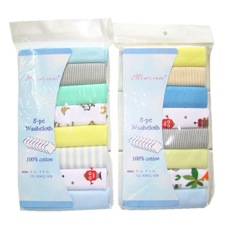 8pcs/pack 100% Cotton Newborn Baby Towels Saliva Towel