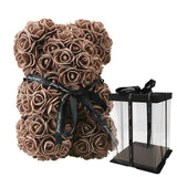 Glow Allure 25cm brown with box Luxury Rose Bear