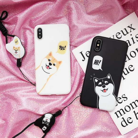 Glow Allure Cute Shiba Inu Phone Cases
