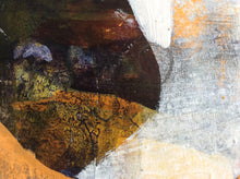 Who let the dog out - painting on wooden panel - detail