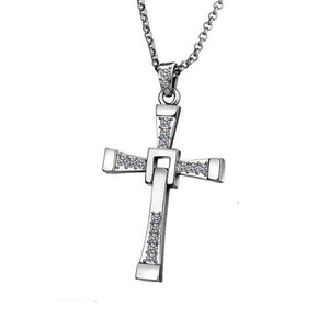 The Fast and Furious Crystal Cross Necklaces