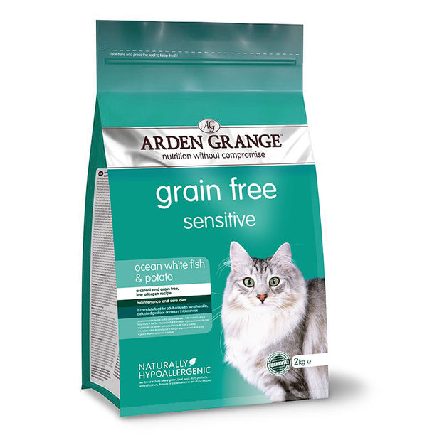 Arden Grange Cat Sensitive - Ocean White Fish and Potato