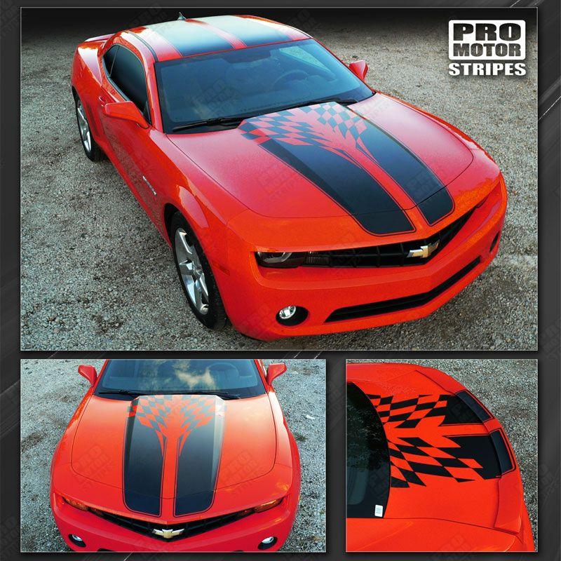 2010 2011 2012 2013 2014 2015 Chevrolet Camaro hood  trunk  roof Decals Stripes 152588442996-1