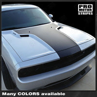 Dodge Challenger 2008-2019 Solid Style T-Hood Stripes