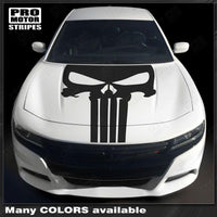 Dodge Charger 2015-2019 Punisher Style Hood Skull Decal Stripe