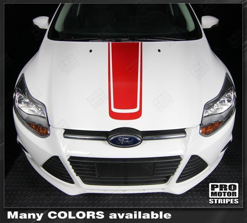 2011 2012 2013 2014 Ford Focus hood Decals Stripes 122586314012-1