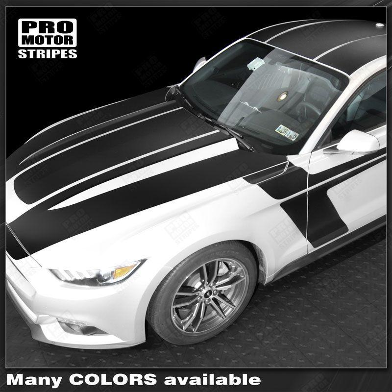 2015 2016 2017 Ford Mustang hood  side  trunk  door  roof Decals Stripes 132370902645-1