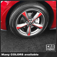 "Ford Mustang 2015-2017  Wheel Spoke Overlay Decals for 18"" Rims"