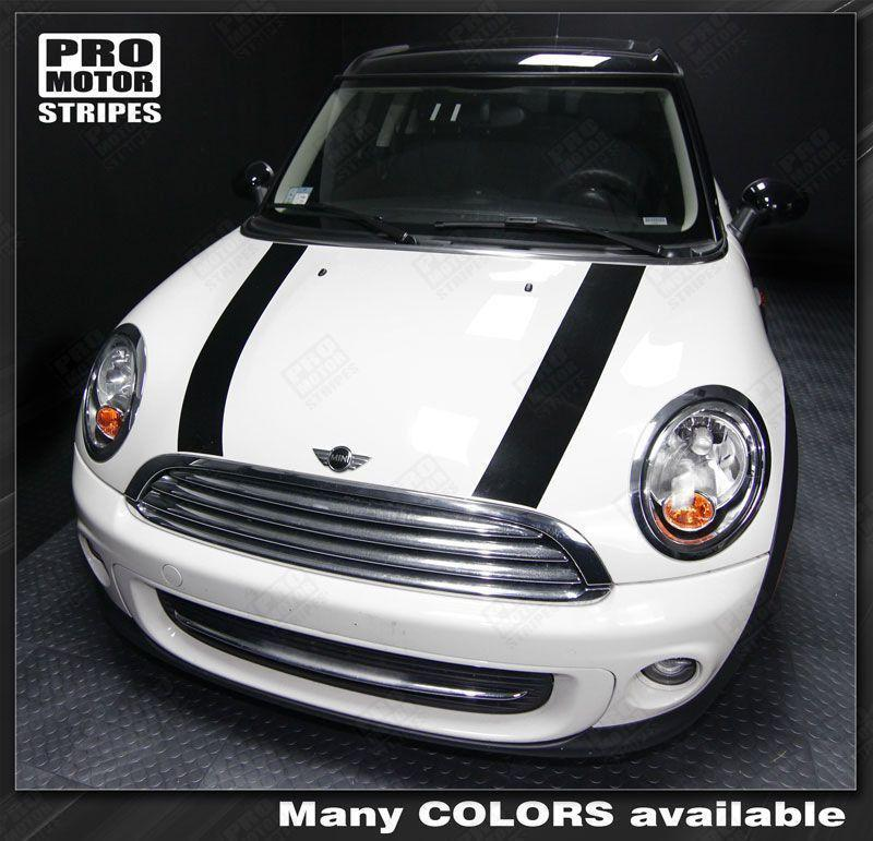 2008 2009 2010 2011 2012 2013 2014 Mini Cooper hood Decals Stripes 122595825430-1