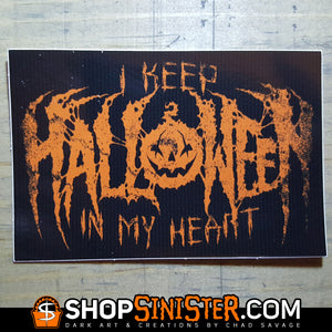 I Keep Halloween In My Heart Vinyl Sticker
