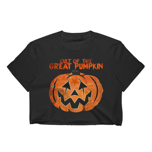Cult of the Great Pumpkin - Mask Women's Crop Top