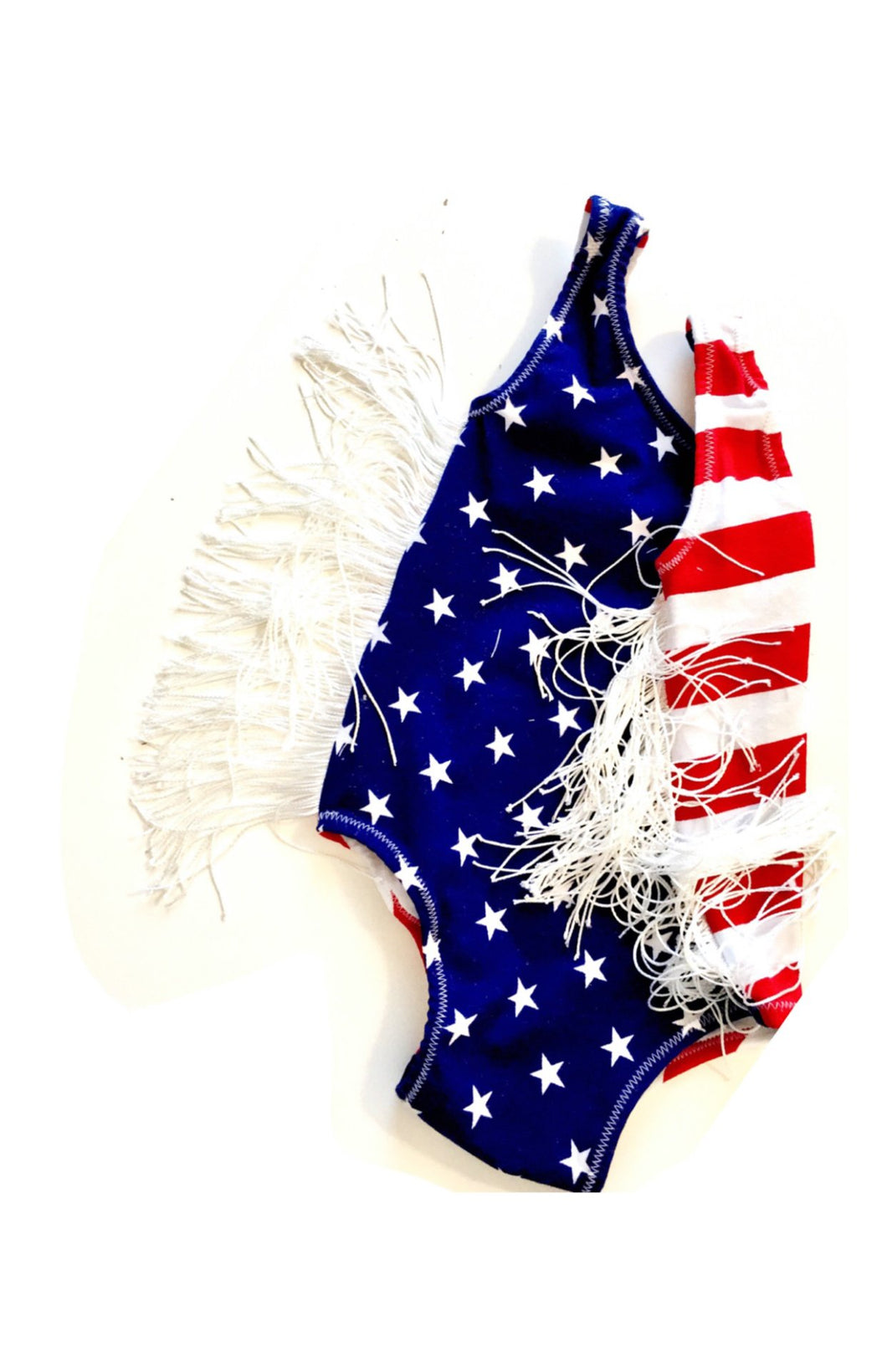 Stars & Stripes Leotard (with or without fringe)