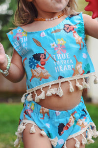 True to Your Heart Moana Tassel Set