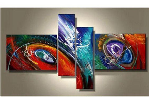 Abstract Painting, Large Acrylic Art, 4 Piece Abstract Art, Buy Painting Online - Art Painting Canvas