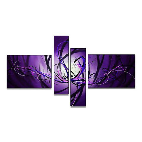 Bedroom Wall Art, Abstract Art on Sale,  Purple and Blue Canvas Wall Art, Buy Art Online - Art Painting Canvas