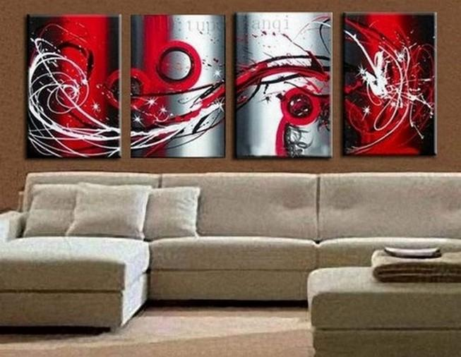 Abstract Art, Red Abstract Painting, Living Room Wall Art, Modern Art for Sale, Extra Large Wall Art, Wall Hanging - Art Painting Canvas
