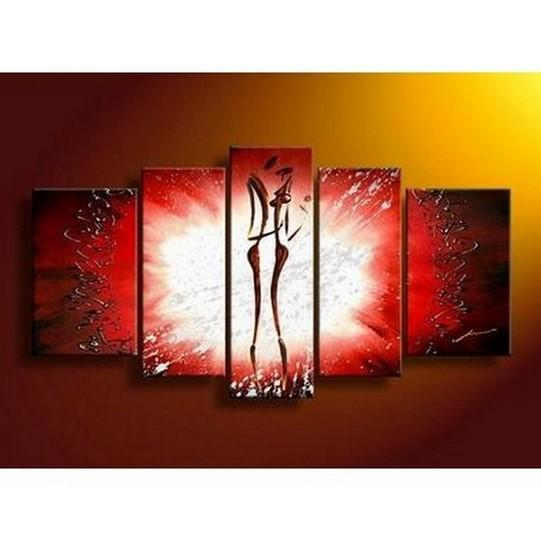 Canvas Art, 5 Panel Canvas Art, Abstract Art of Love, Canvas Painting, Wall Art, Lovers Painting - Art Painting Canvas